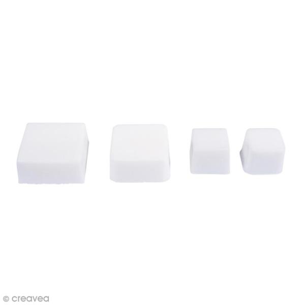 Moule pour savon et béton - Carrés - 4 formes - Photo n°1