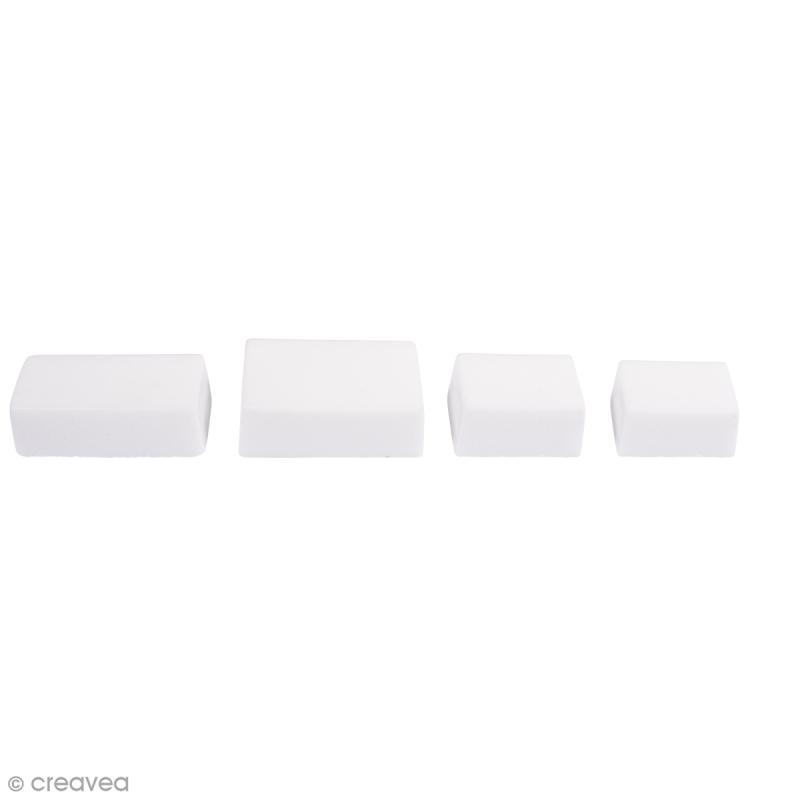 Moule pour savon et béton - Rectangles - 4 formes - Photo n°1