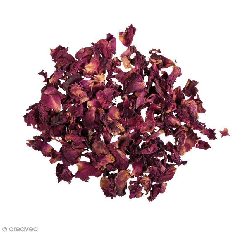 Fleur séchée - Pétales de roses rouges - 3 g - Photo n°2