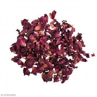 Fleur séchée - Pétales de roses rouges - 3 g