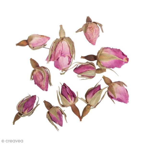 Fleur séchée - Boutons de roses complets - 7 g - Photo n°3