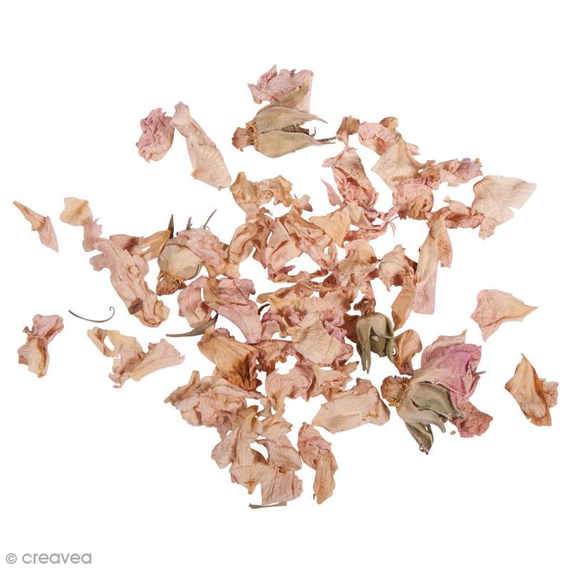 Fleur s ch e p tales de roses 5 g fleurs s ch es pour cosm tiques de bain creavea - Petales de roses sechees ...