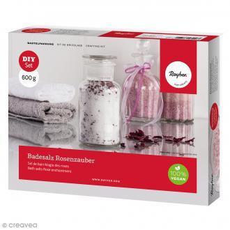 Kit DIY Sel de bain Magie des roses - 600 g
