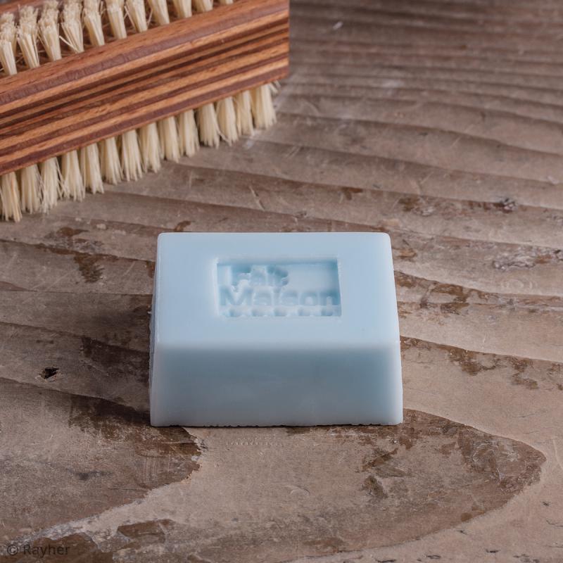 Labels Fait maison et rose - Tampons pour savon 25 x 30 mm - 2 pcs - Photo n°2