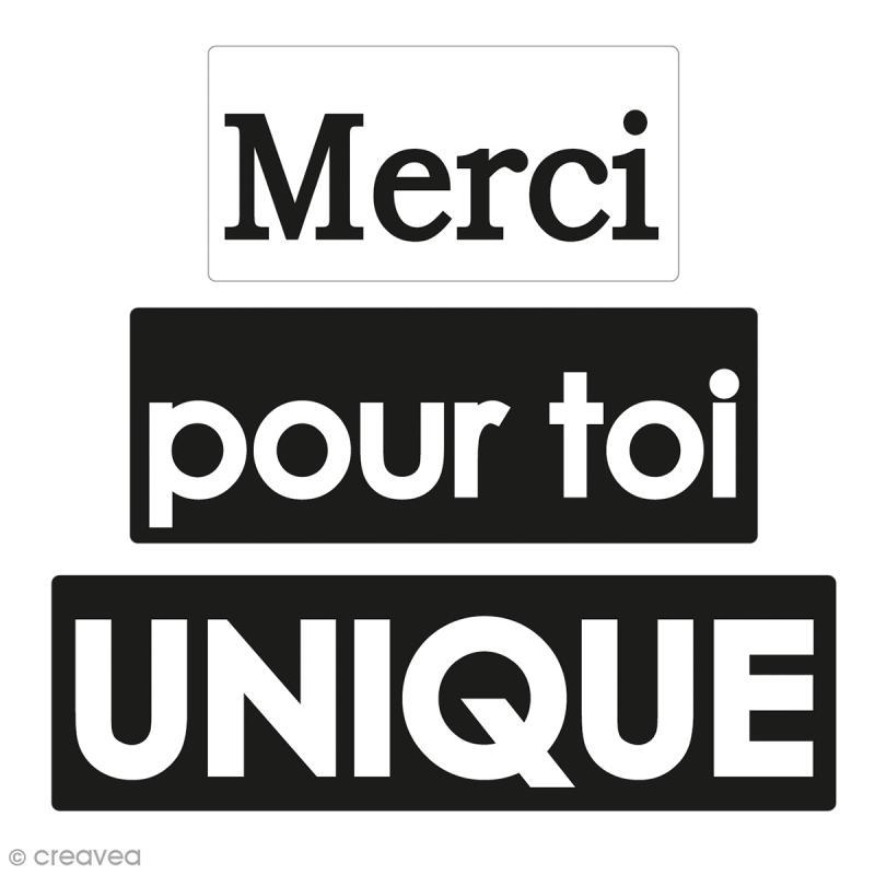 Labels Merci, Pour toi et Unique - Tampons pour savon De 3 à 5 cm - 3 pcs - Photo n°1