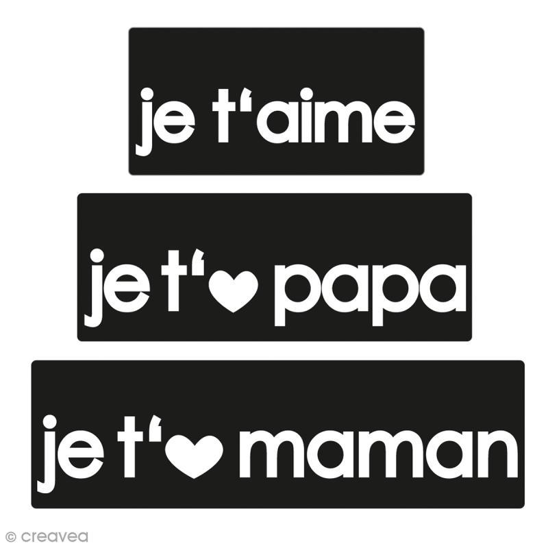 Labels Je t'aime Papa Maman - Tampons pour savon De 3 à 5 cm - 3 pcs - Photo n°1
