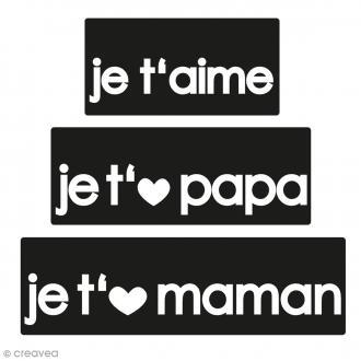 Labels Je t'aime Papa Maman - Tampons pour savon De 3 à 5 cm - 3 pcs