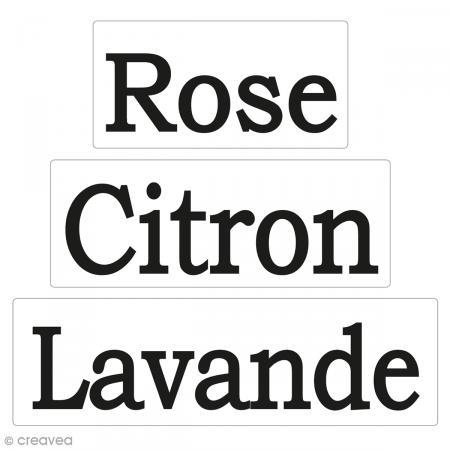 Labels Rose, Citron, Lavande - Tampons pour savon De 3 à 5 cm - 3 pcs - Photo n°1