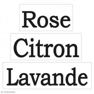 Labels Rose, Citron, Lavande - Tampons pour savon De 3 à 5 cm - 3 pcs