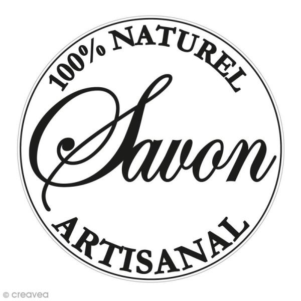 Label Naturel artisanal - Tampon pour savon 45 mm - Photo n°1