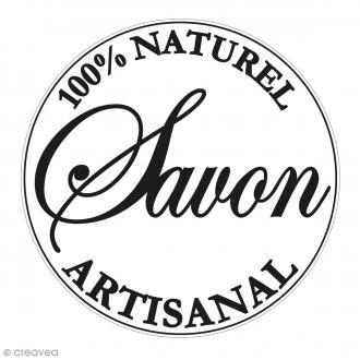 Label Naturel artisanal - Tampon pour savon 45 mm