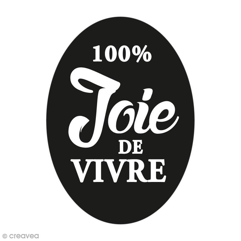 Label Joie de vivre - Tampon pour savon 40 x 55 mm - Photo n°1