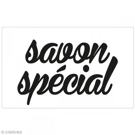 Label Savon spécial - Tampon pour savon 40 x 65 mm - Photo n°1