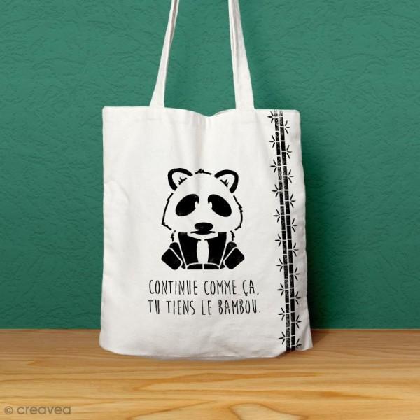 Pochoir multiusage A4 - Panda avec phrase - Photo n°2