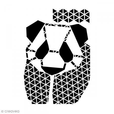 Pochoir home d co a4 panda g om trique pochoir mural for Pochoir geometrique