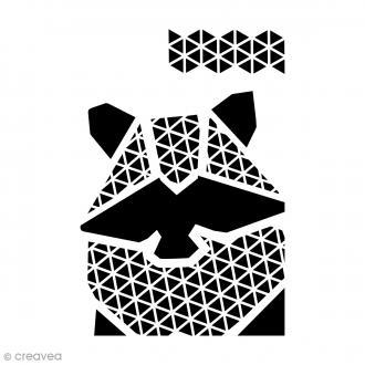 Pochoir multiusage A4 - Raton géométrique