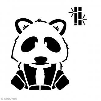 Pochoir home déco 15 x 15 cm - Panda