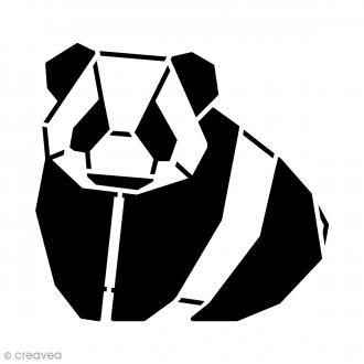 Pochoir déco 15 x 15 cm - Panda géométrique