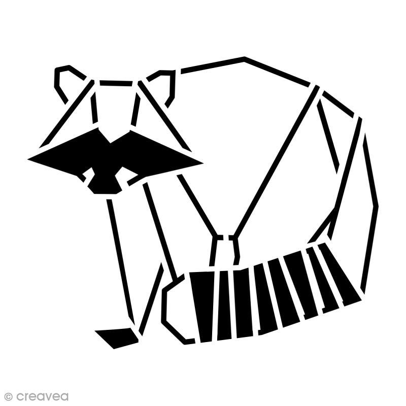 Pochoir multiusage 15 x 15 cm raton laveur g om trique for Pochoir geometrique