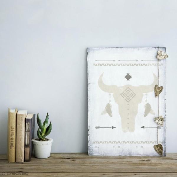 Pochoir multiusage A4 - Crâne de taureau - 20 motifs - Photo n°2