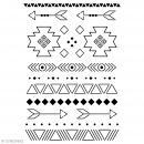 Pochoir multiusage A4 - Motifs Ethniques - 12 motifs - Photo n°1