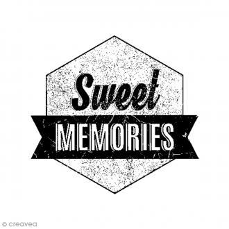 Tampon bois Sweet Memories - 3,7 x 4 cm