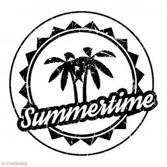 Tampon bois Summertime - 4,5 x 4,5 cm