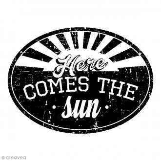 Tampon bois Comes the Sun - 5,6 x 4,5 cm