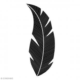 Tampon bois Feuille - 2,6 x 5,7 cm