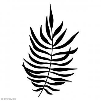 Tampon bois Feuille fougère - 4,5 x 7 cm