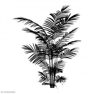 Tampon bois Fougère - 5 x 6 cm