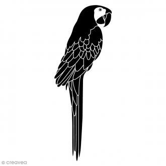 Tampon bois Perroquet - 3,7 x 8,5 cm