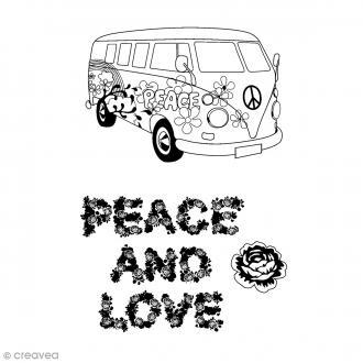 Tampon clear Artemio - Peace & Love - 5 pcs