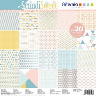 Papier Scrapbooking Artemio - Scandisweet - 30,5 x 30,5 cm - 40 pcs