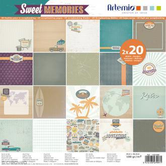 Papier Scrapbooking Artemio - Sweet Memories - 30,5 x 30,5 cm - 40 pcs