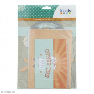 Set cartes déco Memories - 10 pcs