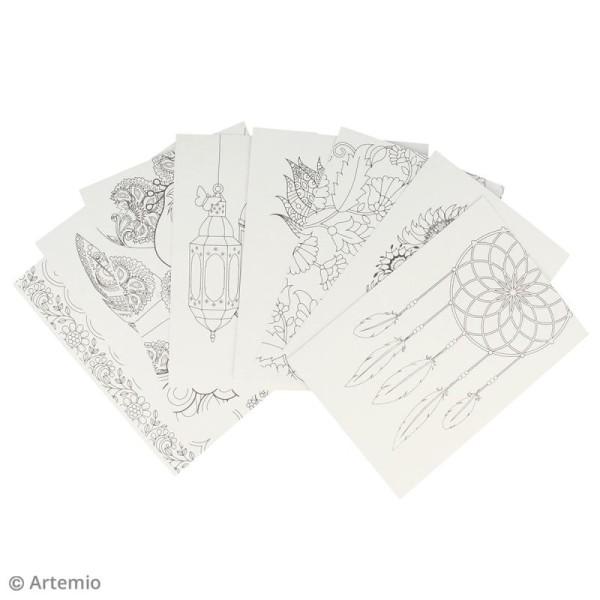 Set de cartes à colorier avec enveloppes - 16 pcs - Photo n°3