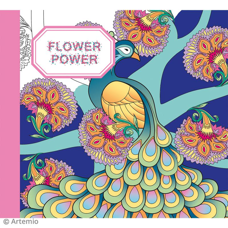 Kit coloriage Flower Power - Album smashbook et crayons - Photo n°2