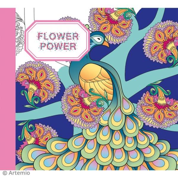 Kit coloriage Flower Power - Album smashbook et crayons - Photo n°2