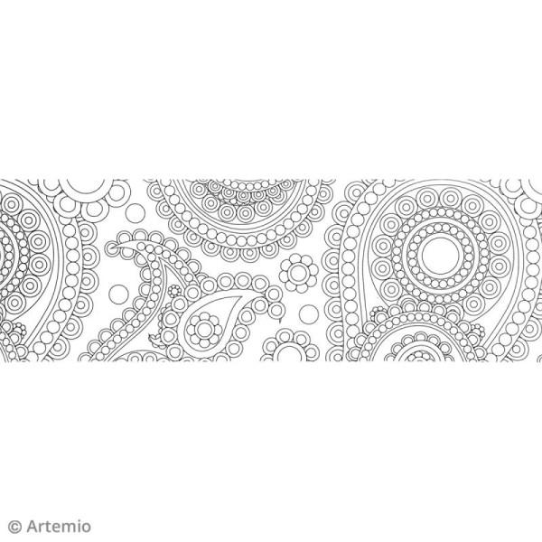 Washi tape XL à colorier - Flower Power - 50 mm x 5 m - Photo n°3