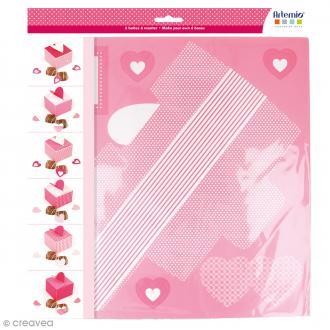 Kit Boîtes carrées Kiss me à monter