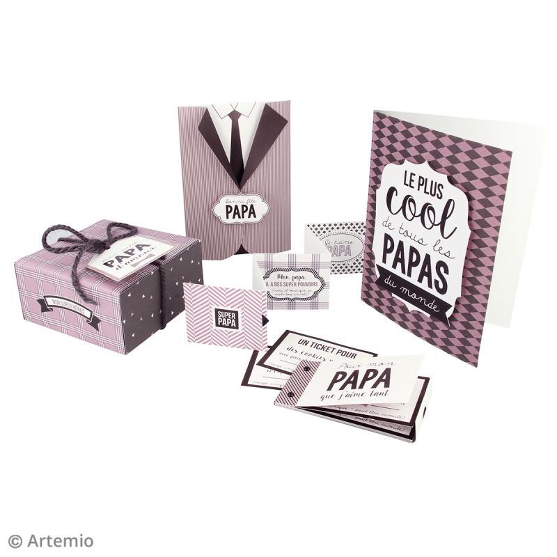 Kit fête des pères - Papiers et embellissements - Photo n°3
