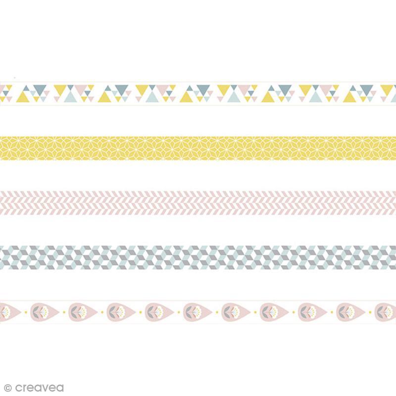 Masking Tape Artemio - Scandisweet - 1,5 cm x 5 m - 5 pcs - Photo n°1