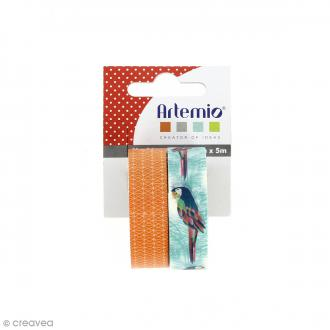Masking Tape Artemio - Jungle Perroquet - 1,5 cm x 5 m - 2 pcs