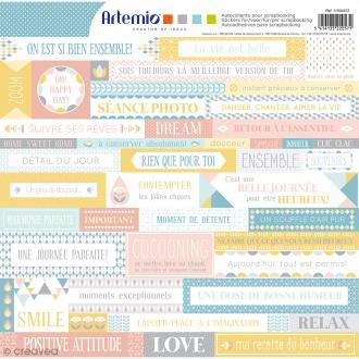 Stickers Artemio - Scandisweet - 1 planche 30,5 x 30,5 cm