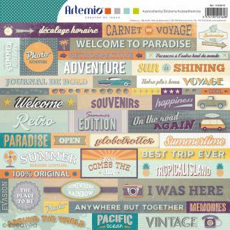 Stickers Artemio - Sweet Memories - 1 planche 30,5 x 30,5 cm