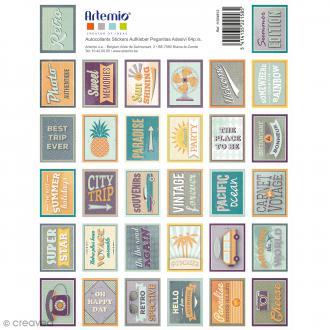 Stickers timbre décoratifs Sweet Memories - 3,3 x 2,7 cm - 64 pcs