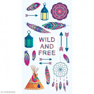 Stickers Puffies - Wild & Free - 18 autocollants