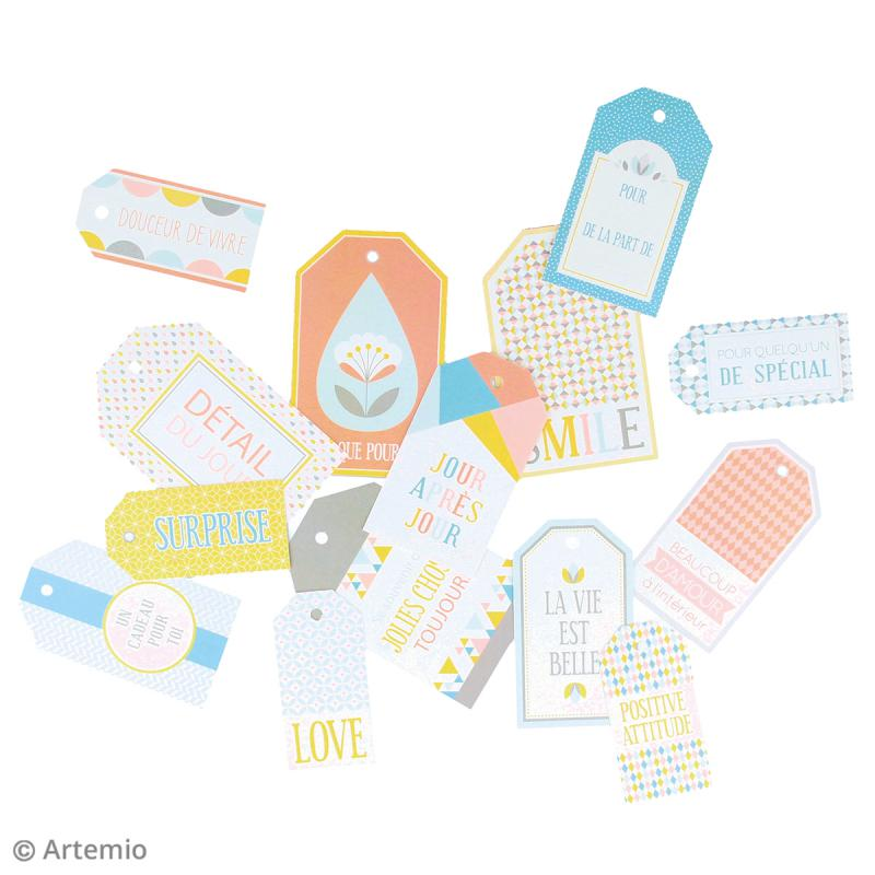 Die cut Artemio - Etiquettes Scandisweet - 15 pcs - Photo n°2