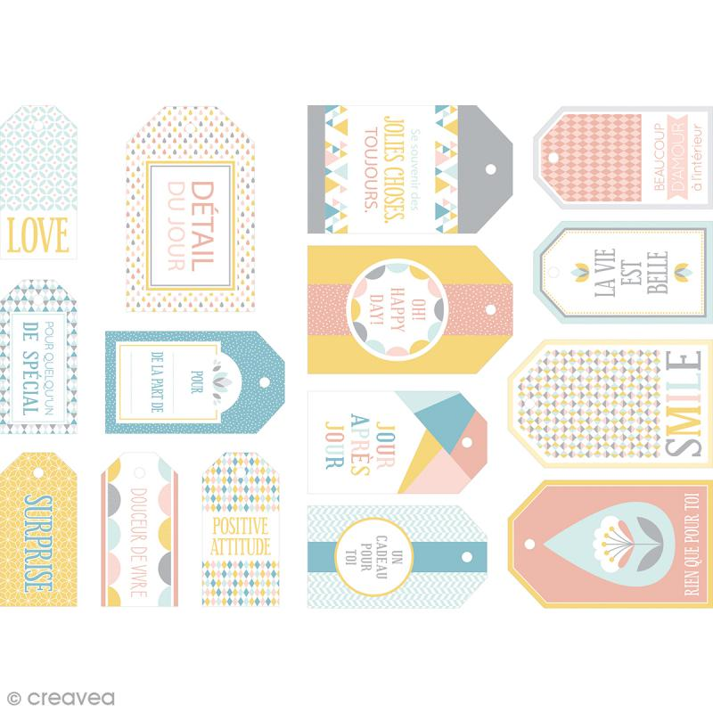 Die cut Artemio - Etiquettes Scandisweet - 15 pcs - Photo n°1